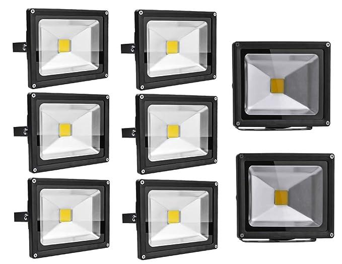Leetop 8X 20W 30W 10W Negro Blanco Cálido Foco Proyector LED ...