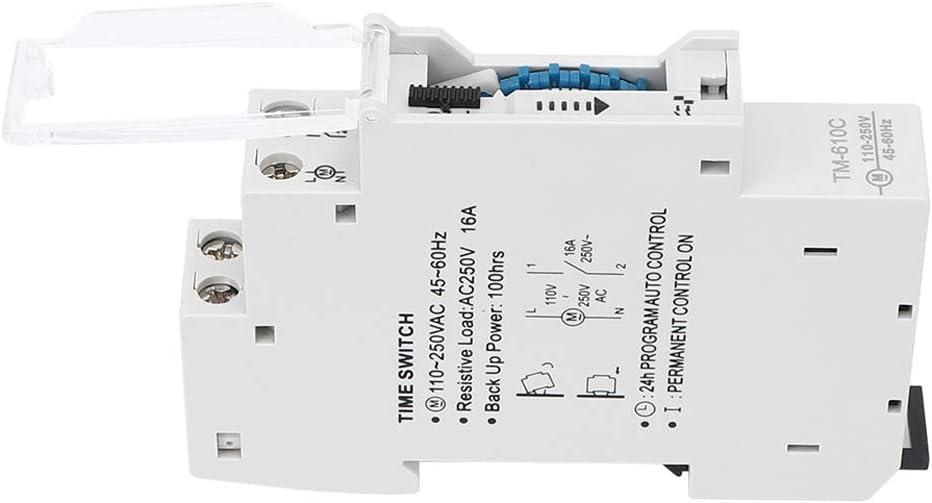Temporizador de Interruptor de Luz Interruptor de Tiempo F/ábricas Equipos de Producci para Alumbrado P/úblico Interruptor de Tiempo Inteligente de Riel 1P de Alta Precisi/ón Letreros Publicitarios