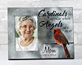 When Cardinals Appear Angels Are Near, In Loving Memory Picture Frame, Sympathy Gift