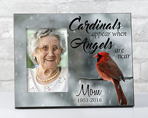 When Cardinals Appear Angels Are Near, In Loving Memory Picture Frame, Sympathy Gift for Loss of Loved One
