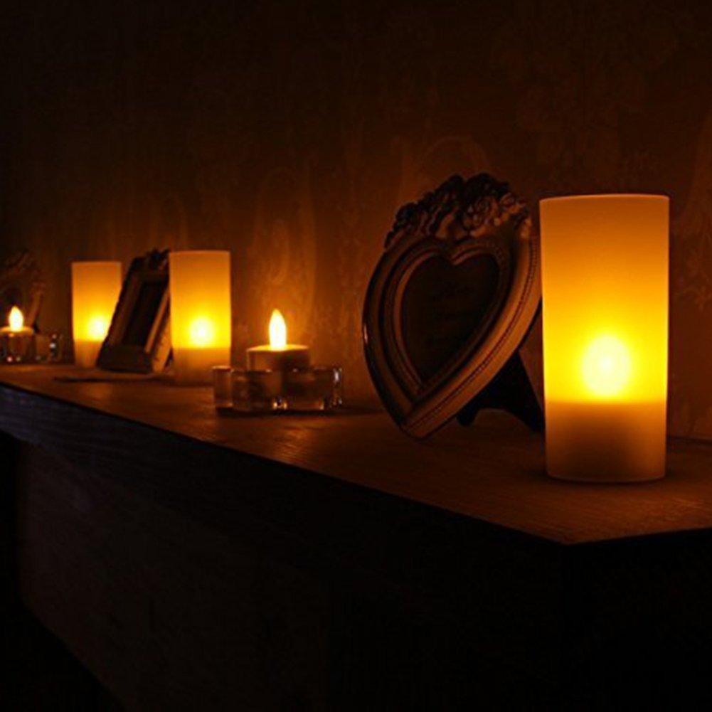 Zenoplige Lot de 24 Bougie LED /à Piles Decoration pour Table Party Anniversaire Mariage Chaud jaune