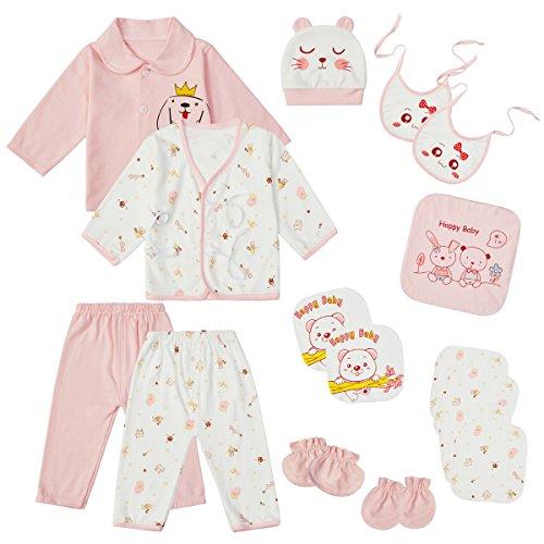 18PCS Newborn Clothes Infant Layette Set 0-3 Months Baby Girl Boy Outfits Essentials