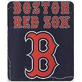 """MLB Officially Licensed Boston Red Sox Lightning Fleece Throw Blanket (50""""x60"""")"""