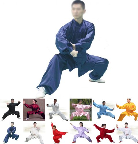 Tai Chi Uniform - luxurious Korean Silk, stretch TaiChi suits, Traditional Tai Chi Clothing for your Tai Chi Exercise, 12 colors and styles, Black, White, Red, Pink, Claret, Shocking Pink, Gold Yellow, Light Yellow, Mazarine, Lake Blue, Light Sky Blue, (Silk Uniform)