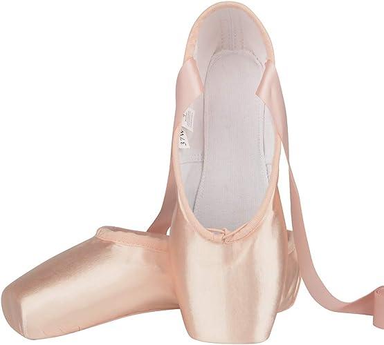 2 Color Women Ballet Dance Toe shoes Professional Ladies Satin Pointe Shoes  US