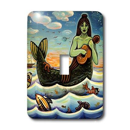 3dRose LLC lsp_21204_1 Mermaid Woman Water Ocean Folk Folklore - Single Toggle Switch