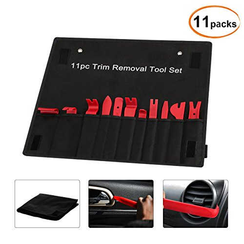 Favoto 11pcs Auto Trim Removal Tool Door Panel Premium Auto Trim Upholstery Removal Kit with Clip Fastener Remover Pliers by Favoto