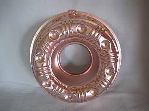 Vintage Coppertone 3 1/2 Cup Ring Jell-o Mold - Bundt Cake Baking Pan