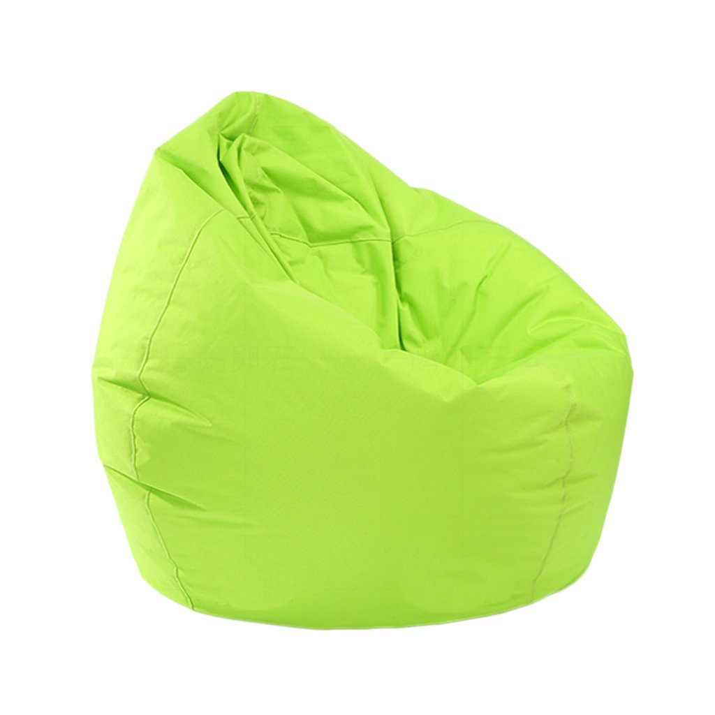 Homyl Extra Large Classic Bean Bag Chair Cover, Indoor Outdoor Garden Beanbag Seat, Stuffed Animal Toy Organizer, Clothes Storage Bag, 30x30x35 Inch - Green