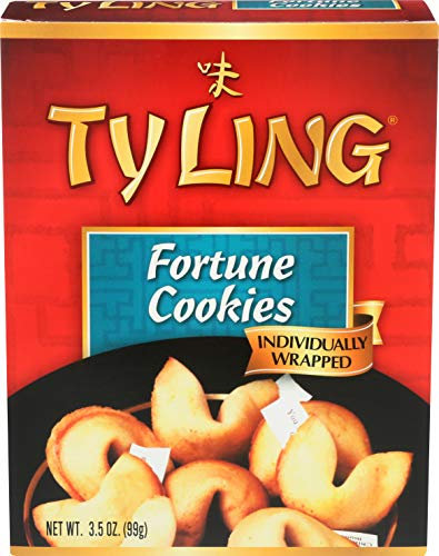 Ty Ling Fortune Cookies, 3.5-Ounce Box (Pack of 12) -