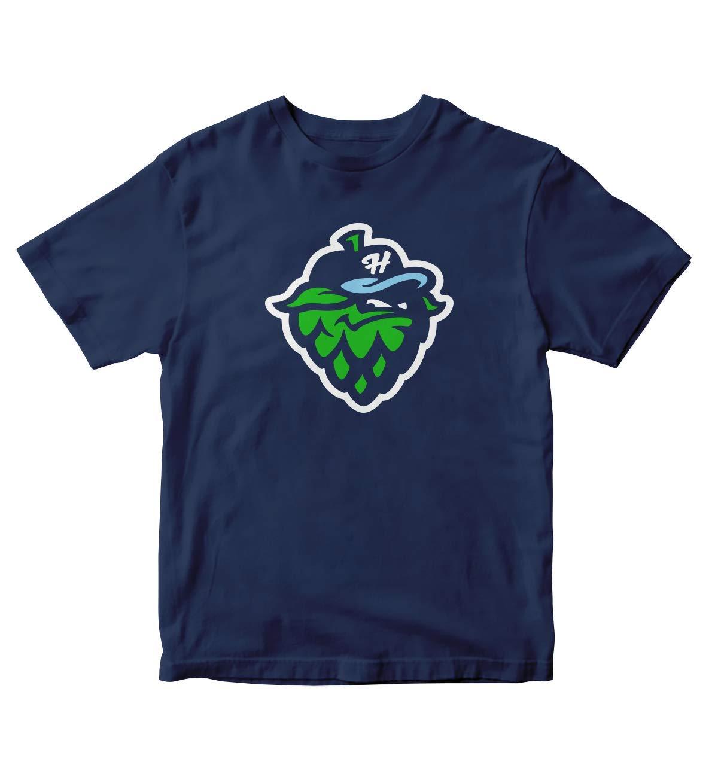Tjsports Hillsboro Hops Baseball Navy Blue Shirt S