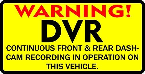 StickerTalk Warning DVR Magnet, 10 inches by 5 inches