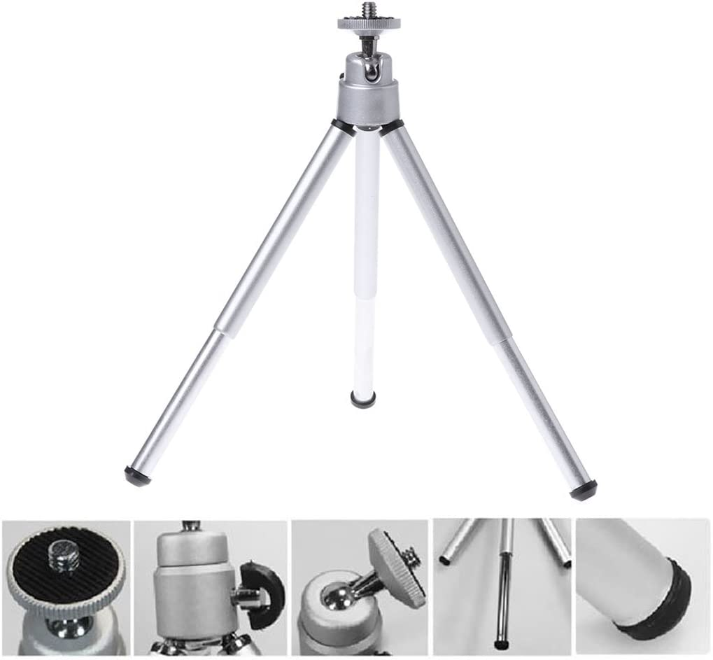 Sixsons Universal Adjustable Extendable Tripod Stand Portable Lightweight Tripod Stand for Canon Nikon Digital Cameras Camcorder Non Skid Travel Selfie Tripod