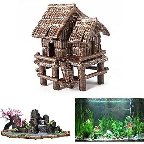 Focuspet Mini Acuario decoración China Caseta Cueva Artificial Ceramic House: Amazon.es: Productos para mascotas