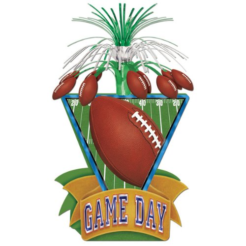 Beistle Party Decoration Game Day Football Centerpiece 15''- Pack of 12