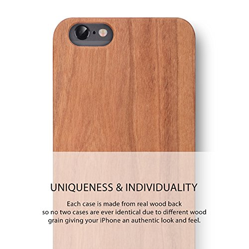 iPhone 6S PLUS/iPhone 6 PLUS Case. iATO Real WOODEN Premium Protective Snap On Cover. Unique, Classy & Stylish CHERRY Wood Bumper Accessory for Apple iPhone 6S PLUS / 6 PLUS by iATO
