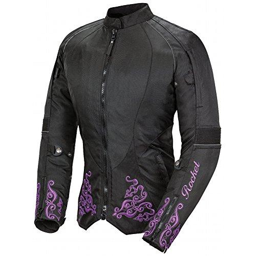 Joe Rocket Heartbreaker 3.0 Women's Textile Street Motorcycle Jacket - Black/Purple / Small