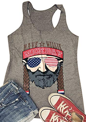 cd9c499ef076c Women Country Music Tank Top Have A Willie Nice Day Funny Summer T Shirt  Cute Vintage