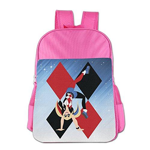 FUOALF Harley Quinn Kids Children Boys Girls Shoulder Bag School Backpack Bags (Harley Quinn Children)