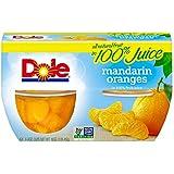 Dole Fruit Bowls, Mandarin Oranges in 100% Juice, 4 Ounce, 4 Cups