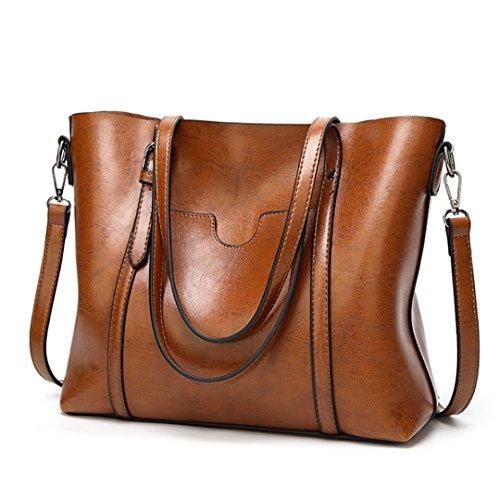 Women's Brown Tote Genuine Vintage Handbag Bag New Leather Model Ciara Shoulder Bag 1wBXqZ