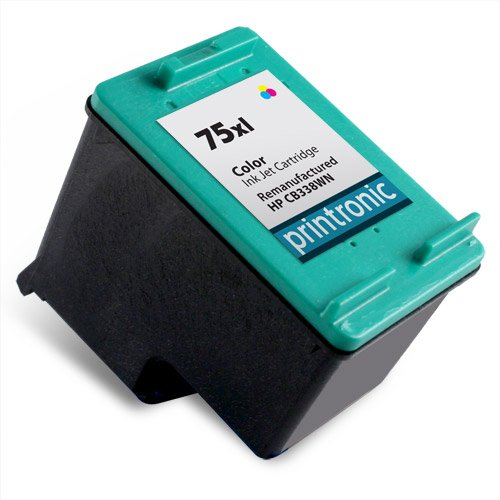 Printronic Remanufactured Ink Cartridge Replacement for HP 75XL CB338WN (1 Color)