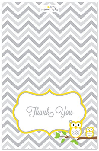 50 Cnt Yellow Owl Baby Thank You Cards by MyExpression.com LLC (Image #1)