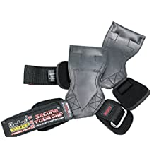 Lifting Grips PRO Weight Lifting Gloves Heavy Duty Straps Alternative to Power Hooks Deadlifts Adjustable Neoprene Padded Wrist Wrap