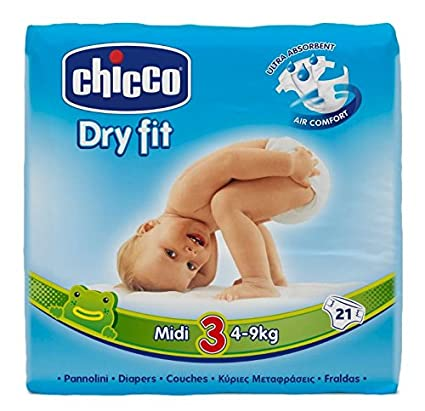 Chicco Dry Fit Pañales Midi Maxi