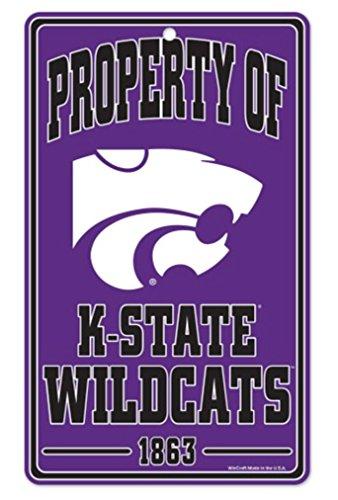 NCAA Kansas State University Wildcats Champ/Prop of Plastic Sign, 7.25 x - State Gifts University Kansas