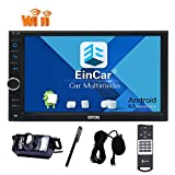Rearview Cam Android 6.0 Dual Cam-in Quad Core Car Autoradio Stereo Bluetooth GPS Navigation 2 din in Dash 7 inch NO DVD CD Player Support Mirror Link 3G/4G WiFi OBD2 External Microphone