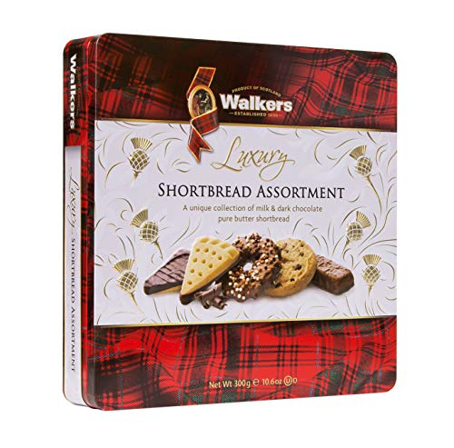 Walkers Shortbread Chocolate Shortbread Assortment Tin, 10.6 Ounce (For Food Traditional Christmas)