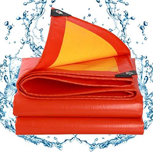 BAOFI Tarps Heavy Duty Waterproof Red, Tarp Cover Waterproof, 15 Mil Sunscreen Multi-Purpose Poly Tarpaulin with Grommets,18x21Feet/6x7m