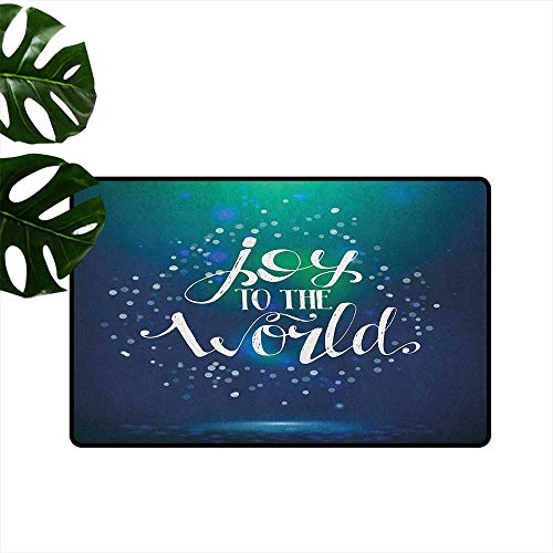 Dotted Hoop - Joy,Carpets Doormat Christmas Lettering Dotted Blurred Background Joy to The World Calligraphy Modern 20