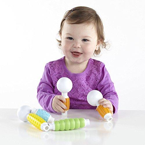 51LQkQnOKJL - Guidecraft Grippies Builders - 20 Piece Set, Tactile STEM Soft Grip Magnetic Building Toy for Toddlers