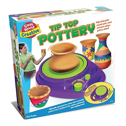 Make Your Own Tip Top Pottery - Uses Imagination Set - Popular Arts & Crafts - Arts & Crafts Toys & Games Gift Present Idea For Stocking Fillers, Christmas Xmas Age 8+ Girls Boys Kids Children Creative & Fun Toys