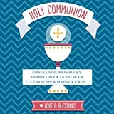 img - for First Communion Books: Memory Book Guest Book Celebration & Photo Book in 1 First Communion Gifts for Boys in All Departments First Communion Books in ... Gifts in all D in Books for Boys in all book / textbook / text book