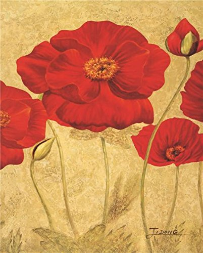 Oil Painting 'Red Flowers', 12 x 15 inch / 30 x 38 cm , on High Definition HD canvas prints is for Gifts And Bath Room, Home Theater And Study - Touch Romance Coupon A Of