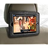 iPad Mini Headrest Mount Holder for Car- Mini sizes 1,2,3,& 4.Keeps iPad in Car Secure Within A Strong PU Leather Case. Safe Car Mount for Kids
