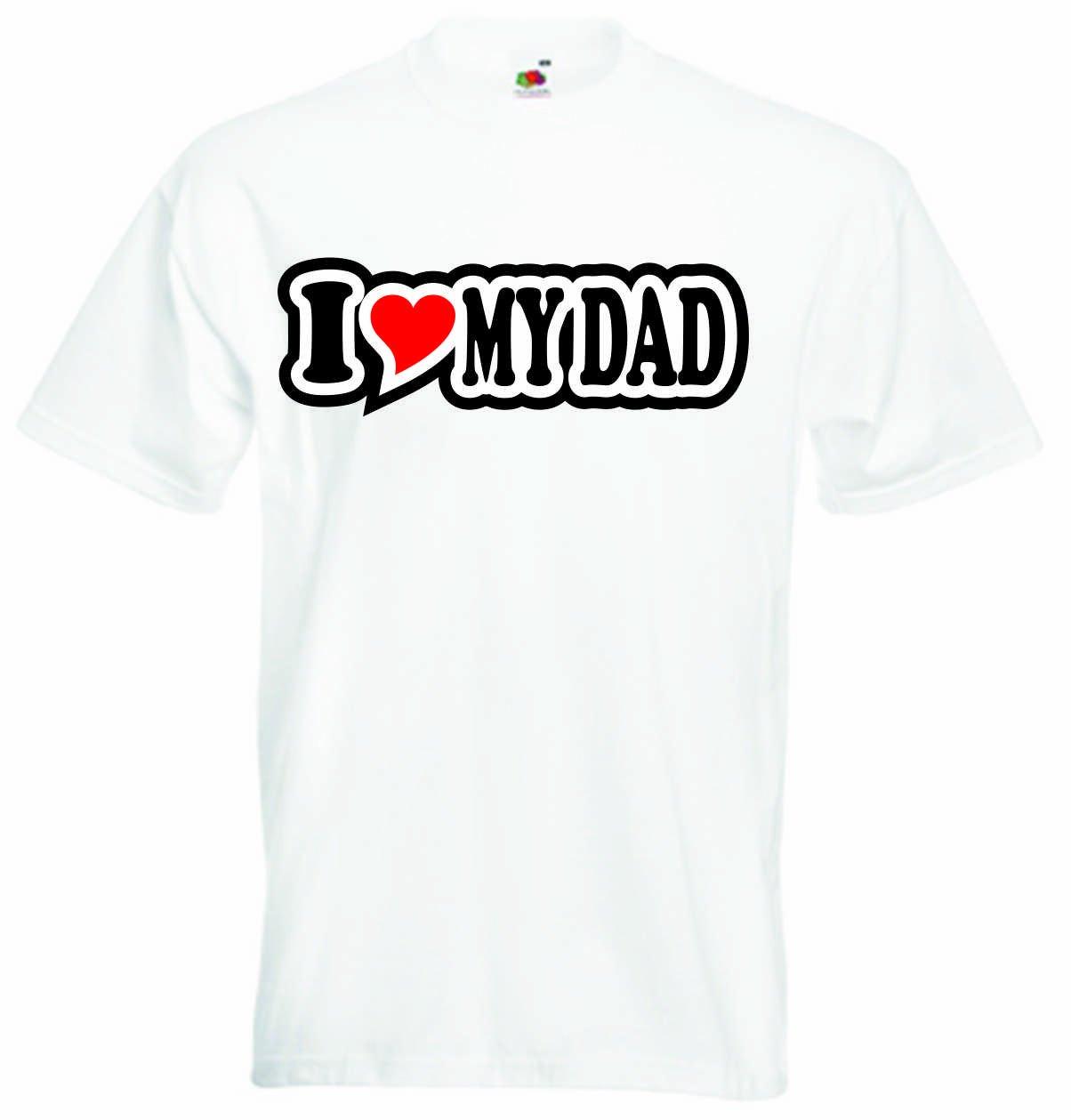 I Love Heart T-Shirt Men I LOVE MY DAD Black Dragon