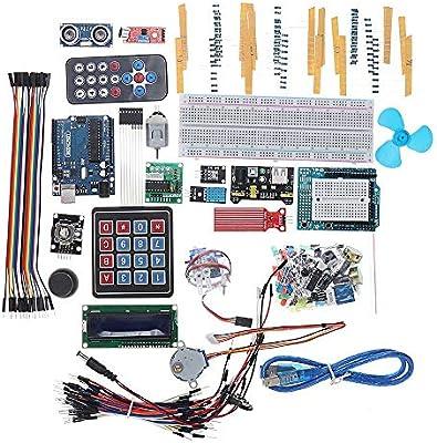 Componentes Meter Zumbador de placa de fuente de alimentación LCD1602 for Arduino UNO R3 Super Starter Kit: Amazon.es: Coche y moto