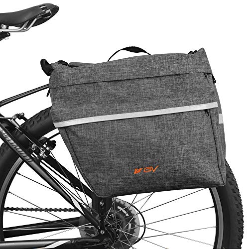 Bike Bag Bicycle Panniers with Adjustable Hooks Carrying Handle Large Pockets