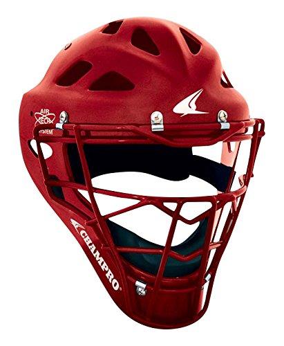 Champro Sports Hockey Style Headgear, Scarlet, 6½ - 7 by CHAMPRO