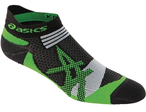 ASICS Kayano Single Tab Sock, Large, Black/Green Gecko