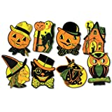 """Arts & Crafts : Beistle 01009 Packaged Halloween Cutouts, 8.5"""" - 9.25"""", 4 Cutouts In Package"""