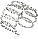 Silver Diamond Cuff Bracelet (1/2 cttw, I-J Color, I2-I3 Clarity)