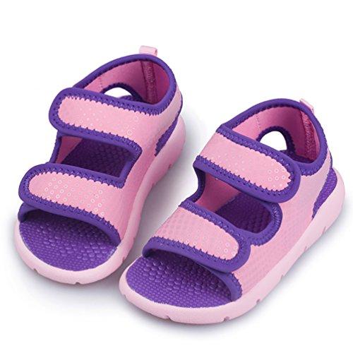 D.LIN Open Toe Beach Sport Sandals Trail Outdoor Water Shoes (Toddler)