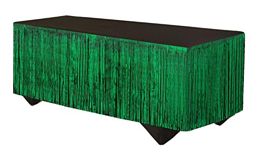 Forum Novelties 76186 Party Supplies Tinsel Fringe Table Skirt, 144