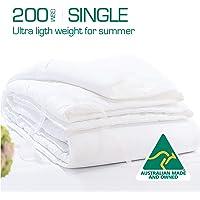 Luxor Linen Australian Made 200GSM Summer Weight Wool Quilt (JAPARA-WQ-200G-S)