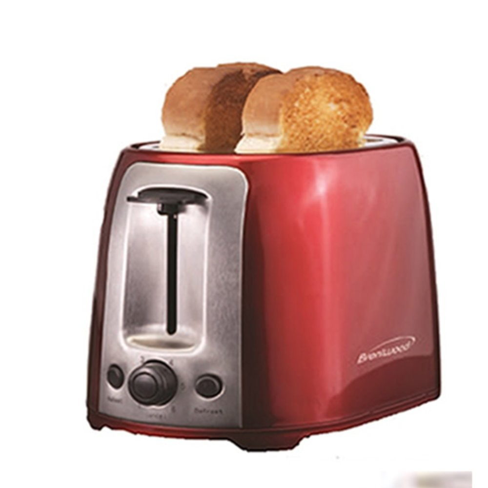 Brentwood 2 Slice Cool Touch Toaster ; Red and Stainless Steel Home & Garden